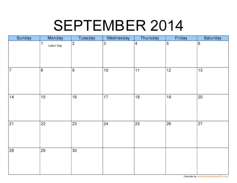 Big Block Printable Calendar : Free Calendar Template