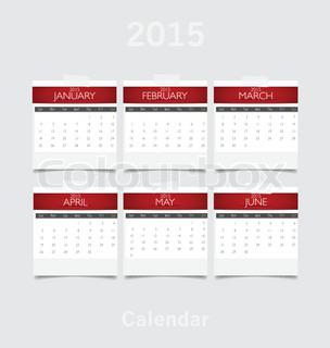 Simple 2015 year calendar (September, October, November, December