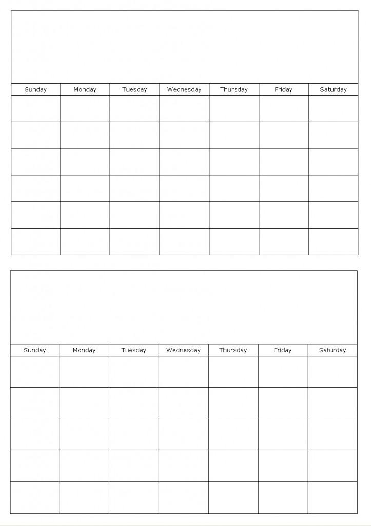 Free 2 Month Calendar Template Calendar Template 2018