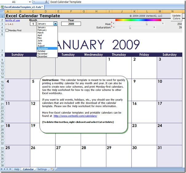 Quickly Make Your Own Free Calendar