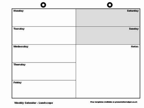 8 Best Images of Free Printable Blank Weekly Schedule Free