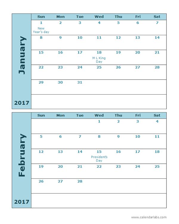 Free printable calendar 2 months per page calendar for 2 month calendar template 2014