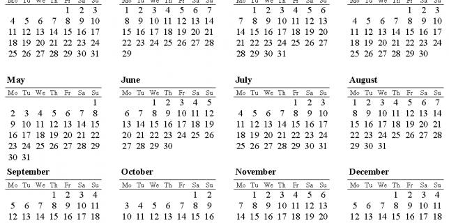 May 2016 Calendar Starting Monday