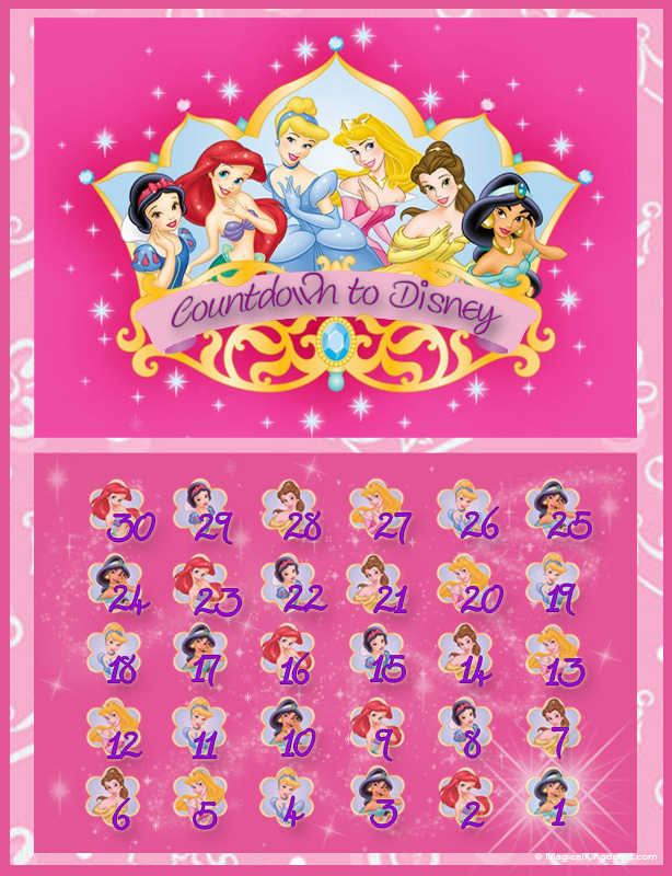 Disney countdown calendars FREE