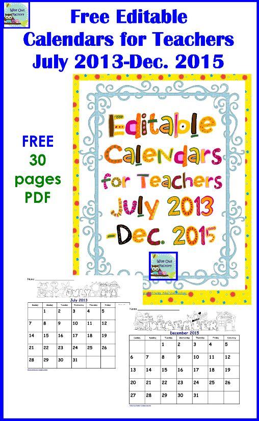 Free | Calendar, Free Calendar and Printable Calendars