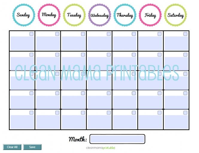 Wise Owl Editable Calendars Calendar Template :: calendar design