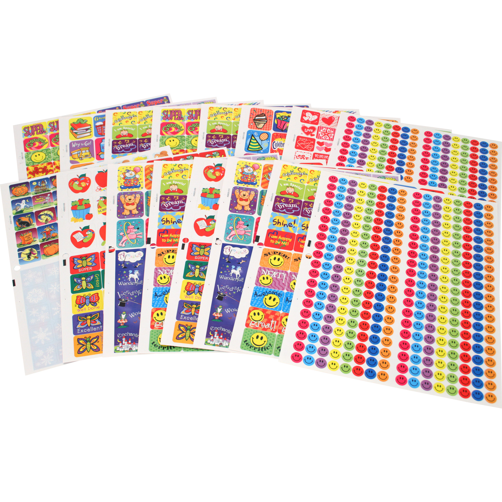 1,442 Count Motivational Jumbo Sticker Book | Eureka School