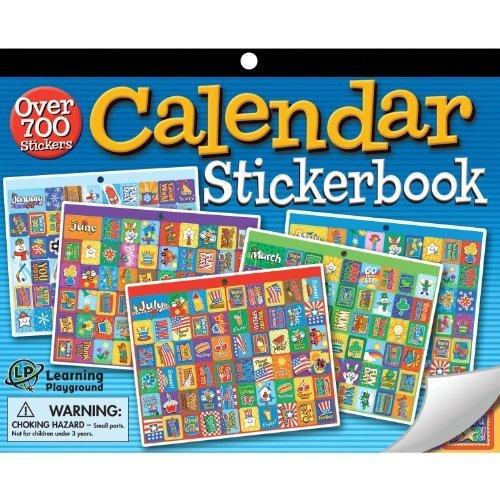 Kids Calendar Stickers : Eureka jumbo calendar sticker book template