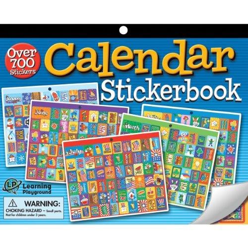 Children S Calendar With Stickers : Eureka jumbo calendar sticker book template
