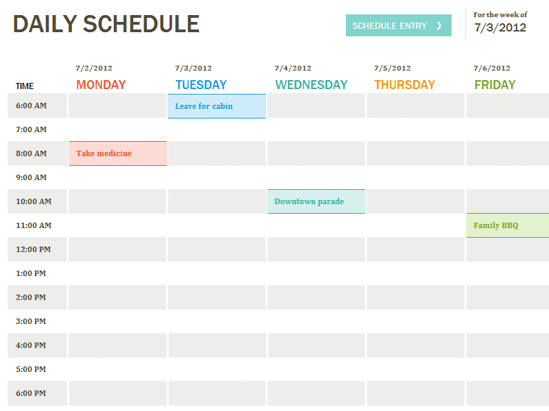 Planner template, Daily planners and Daily schedules on Pinterest