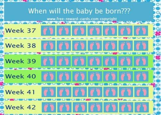 Baby Countdown Calendar Printable | Blank Calendar Design 2016