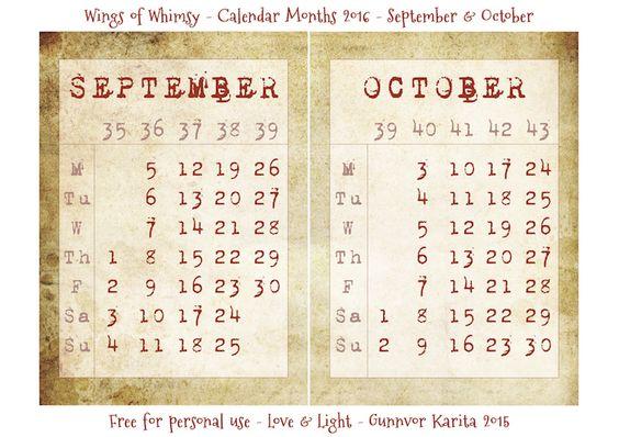 The 2016 Calendar – Vintage Style | Freebies Printable, Calendars