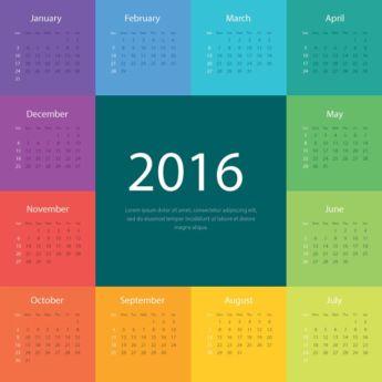 Big Block 2016 Calendars   Calendar Printable 2016