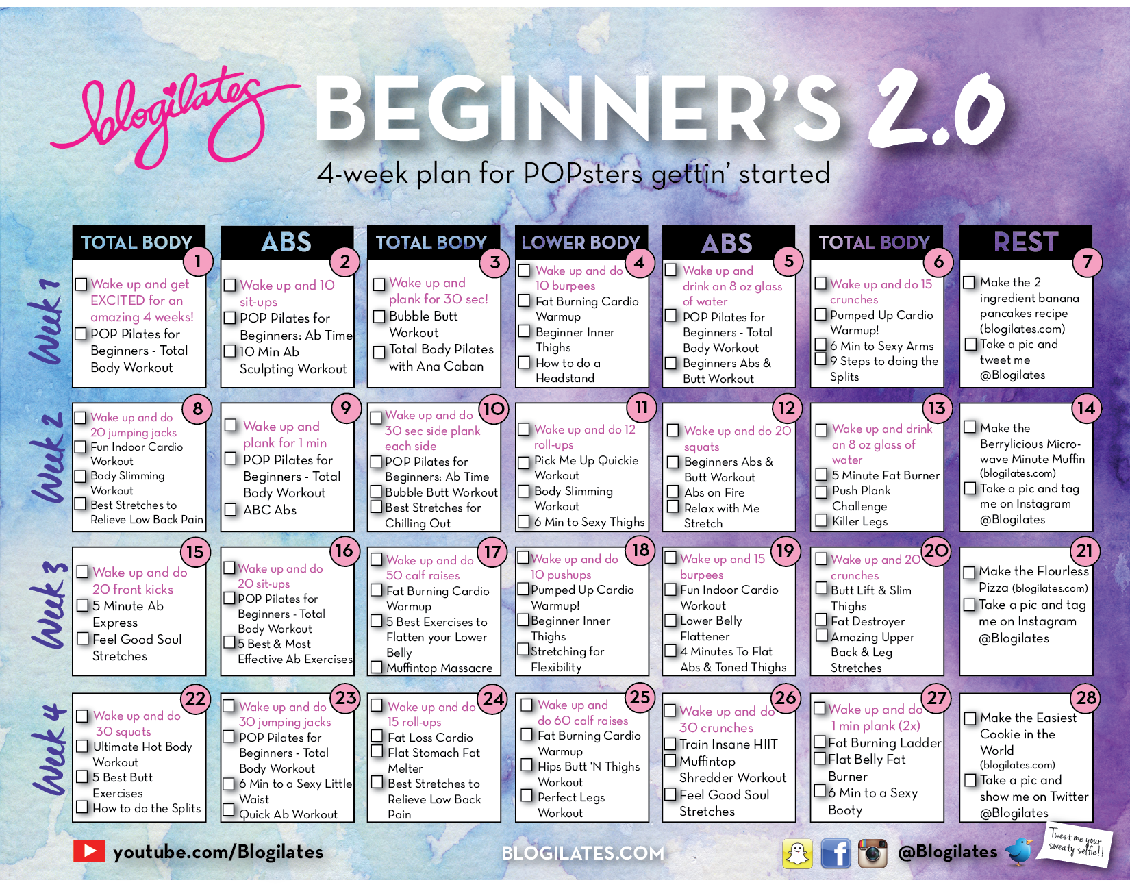 NEW Beginners Calendar 2.0 |