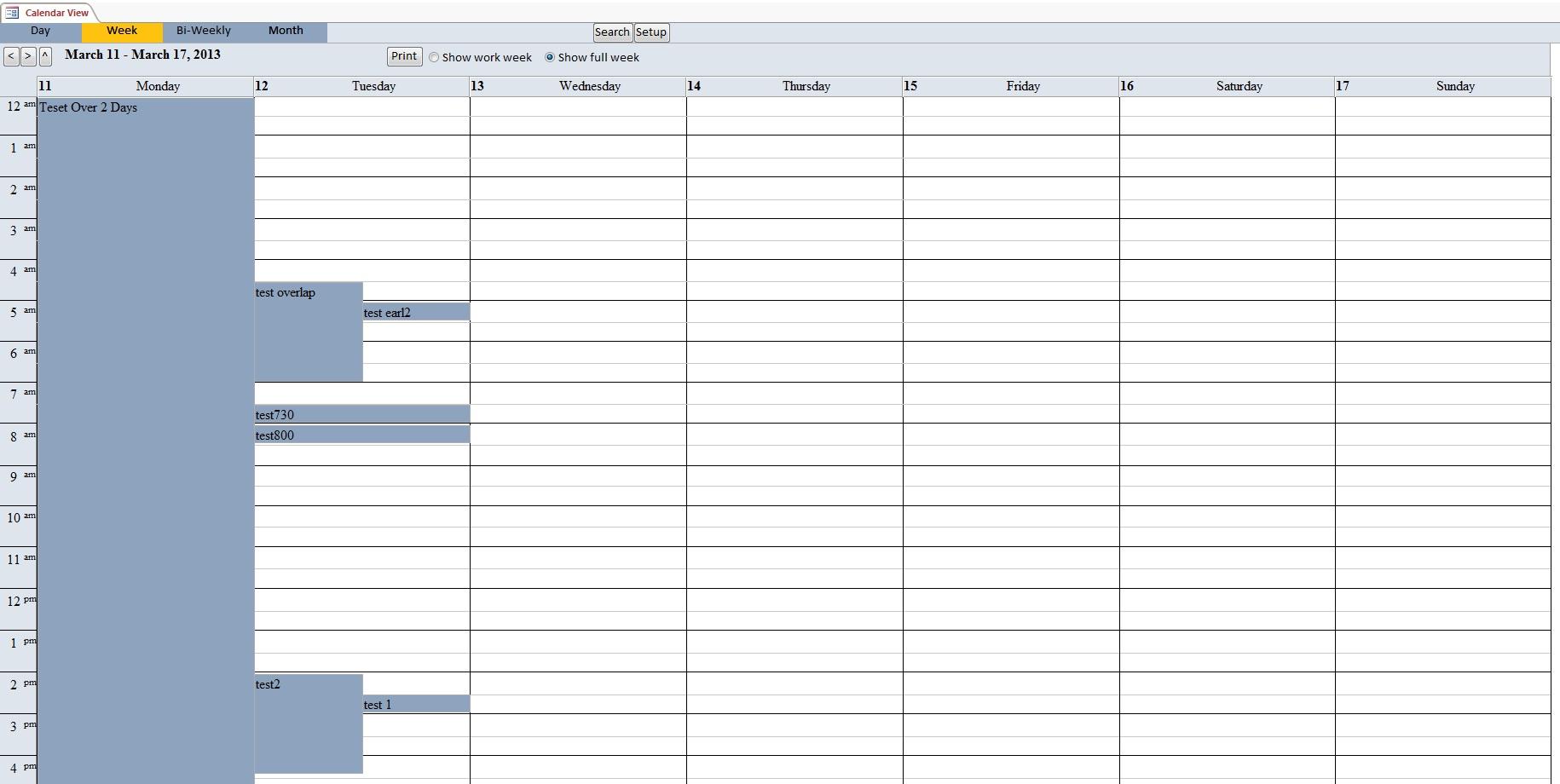 Microsoft Access Calendar Scheduling Database Template