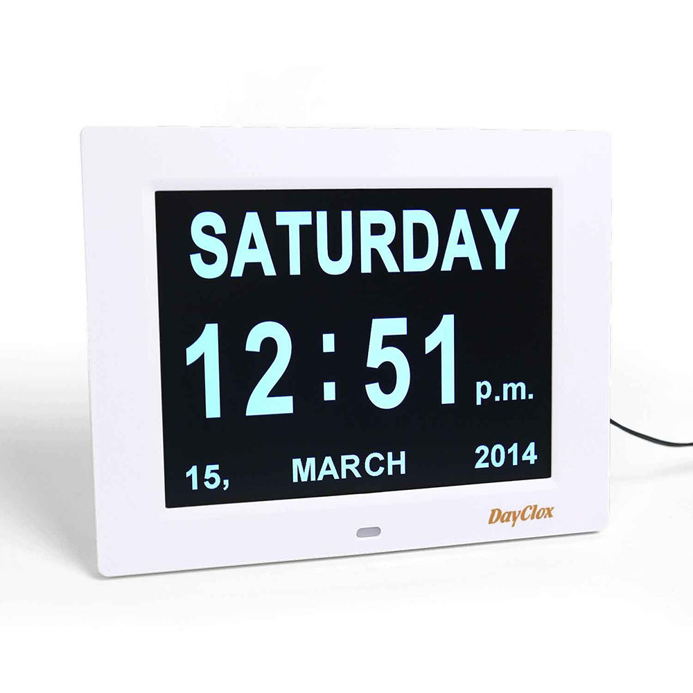 Dayclox International Digital Calendar Day Clock