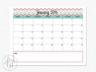Free Day Runner Calendar Printable | Calendar Template Design