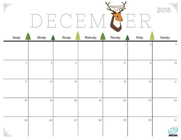 2016 calendar clipart free december ClipartFest