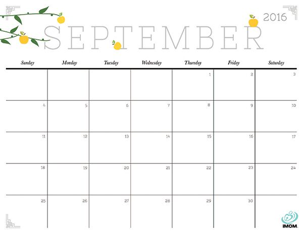 Free clipart september calendar apple ClipartFest