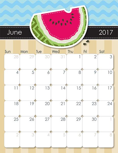 iMOM's Whimsical 2017 Printable Calendar iMom