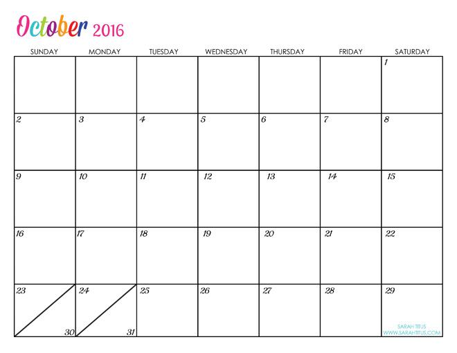 Blank Attendance Calendar Free printable calendar