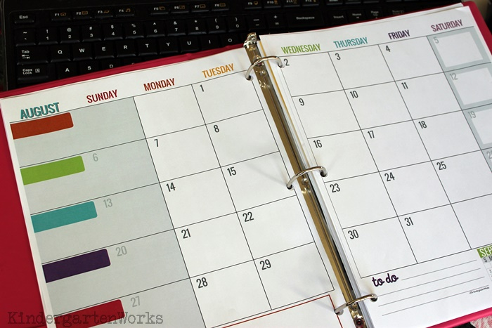 Printable Calendar 2016 2017 Calendar Template | KindergartenWorks