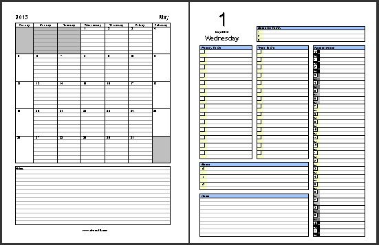 2014 May Calendar & Daily Planner Pages Free Download chaos40.com