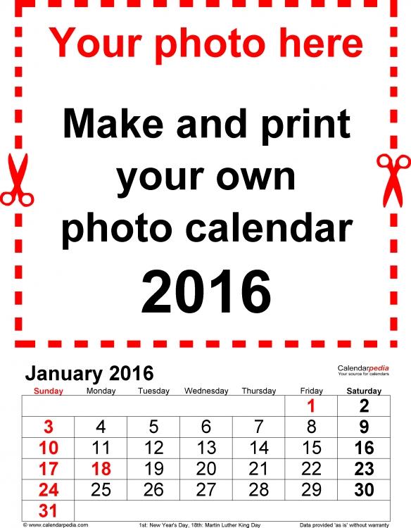 Extra Large Calendar Template * Calendar Printable Template