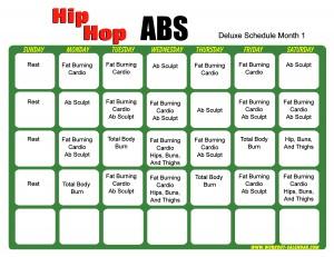 workout calendar : Glisten Fit