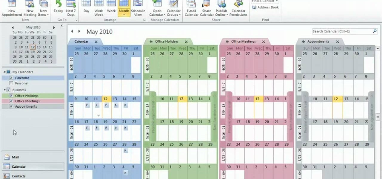 How To Print Yearly Calendar In Outlook 2010 | Yearly Calendar
