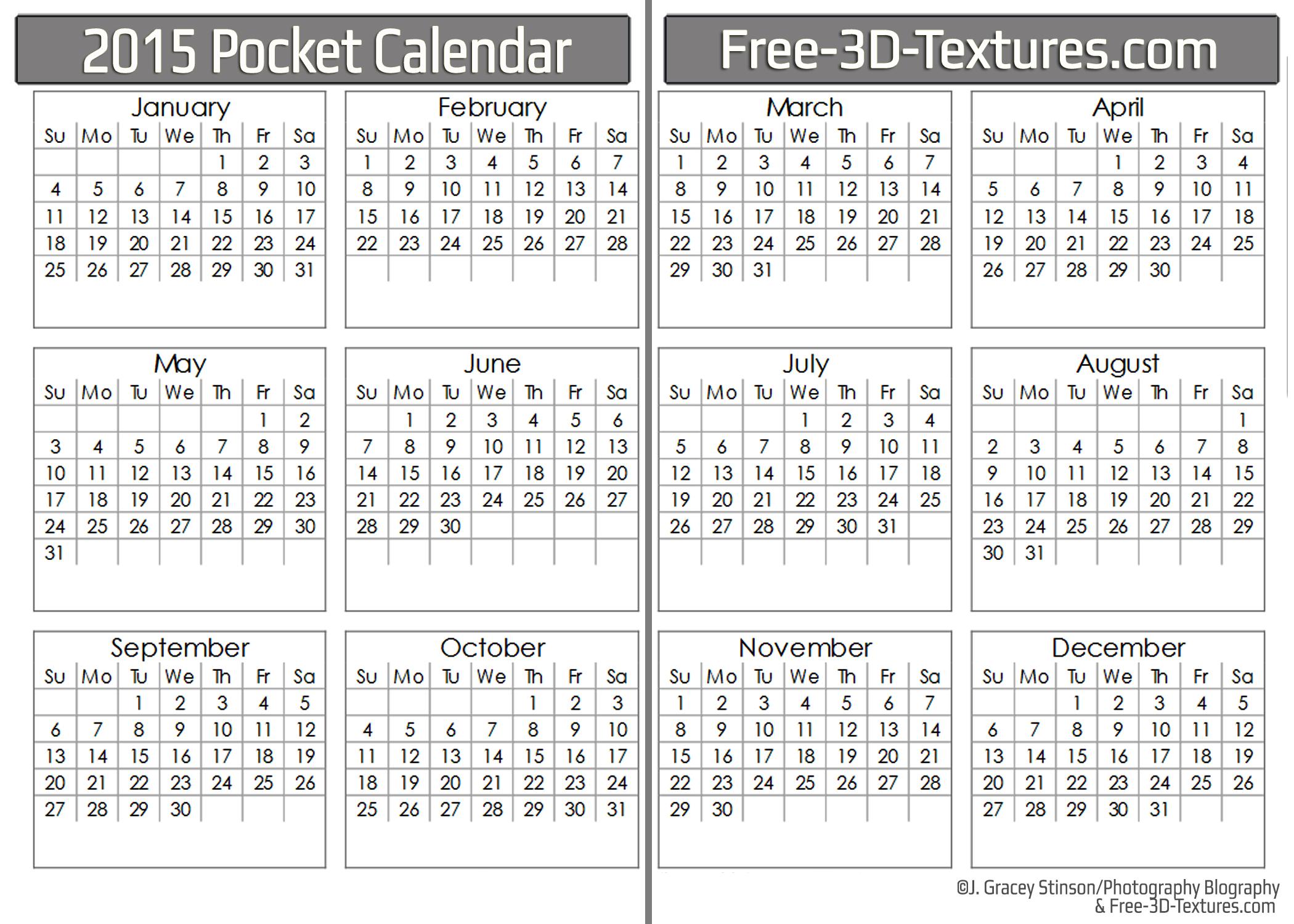 Black Friday free printable 2016 pocket calendar planner free run