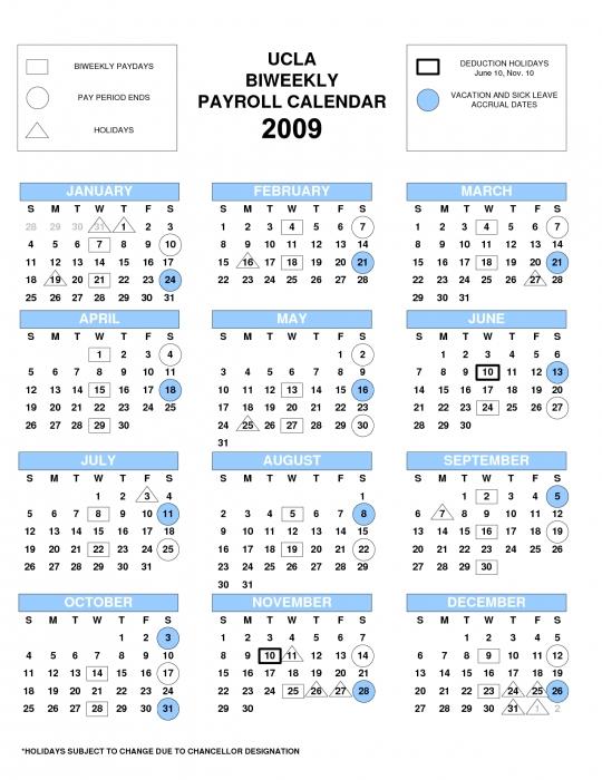 calendar ucla Calendar