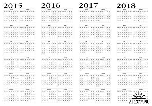 Calendar 2014 And 2020 Printable 5 Year Calendar 2015 2020 Printable | Calendar Template 2019