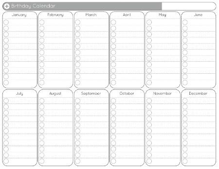 blank 12 month calendar