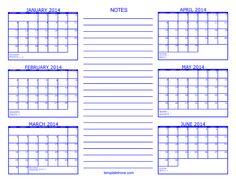 Printable Calendar 6 Months – printable calendar 2017