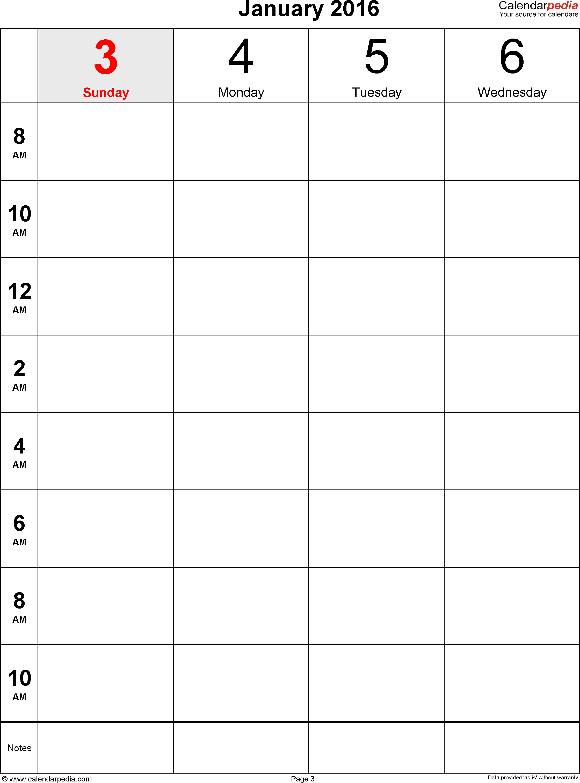 Weekly Calendar Blank : Blank bi weekly calendar template