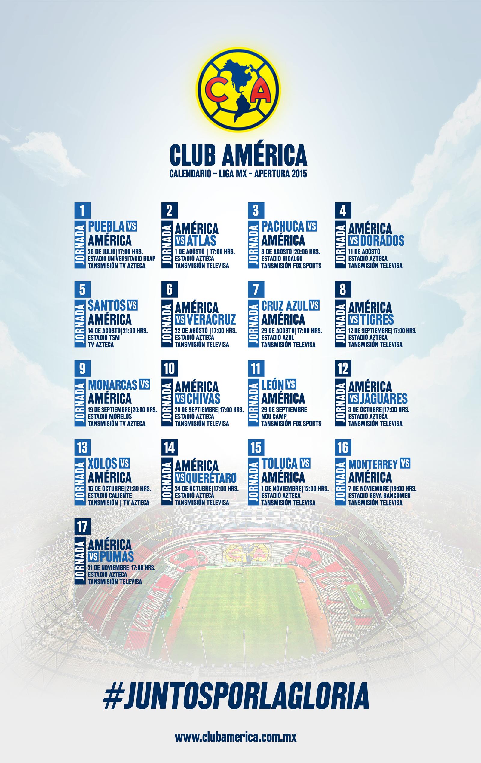 calendario america bancomer mx
