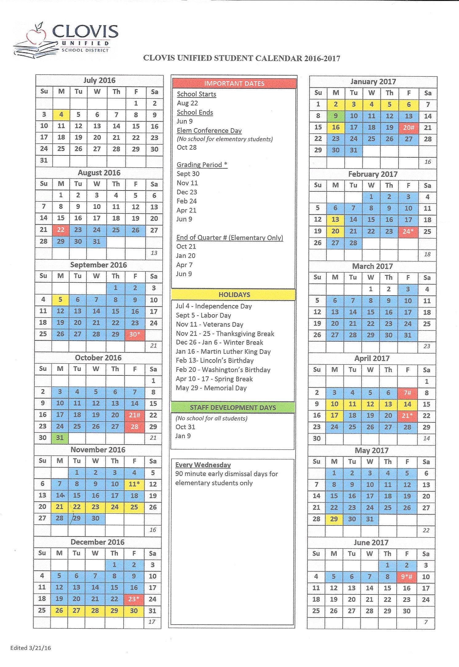 academic calendars templates