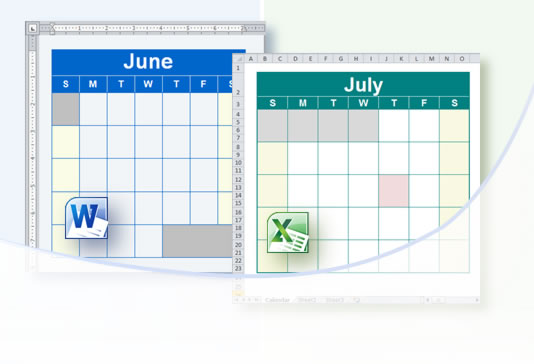 Calendar Planner Maker : Customizable calendar template for word