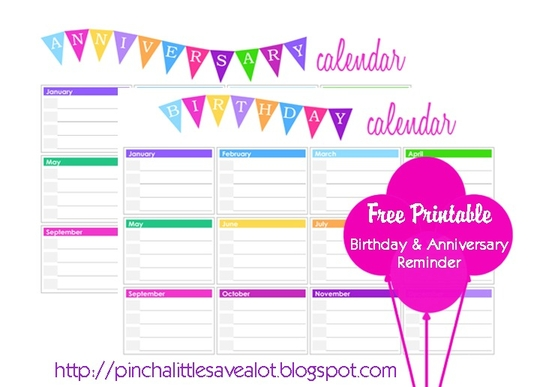 17 Best images about Printable Birthday Calendar on Pinterest
