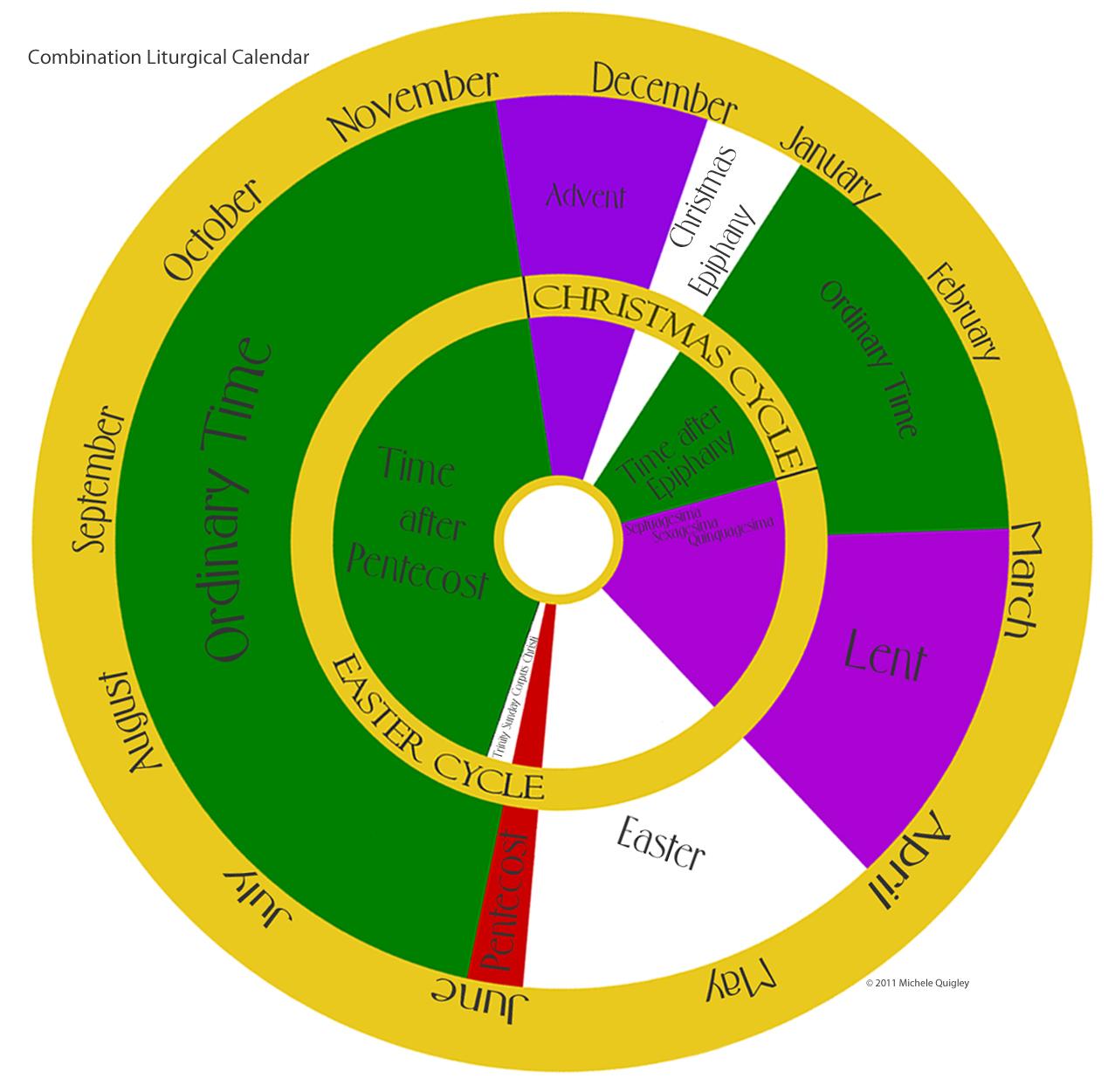 Episcopal Liturgical Colors Calendar 2016