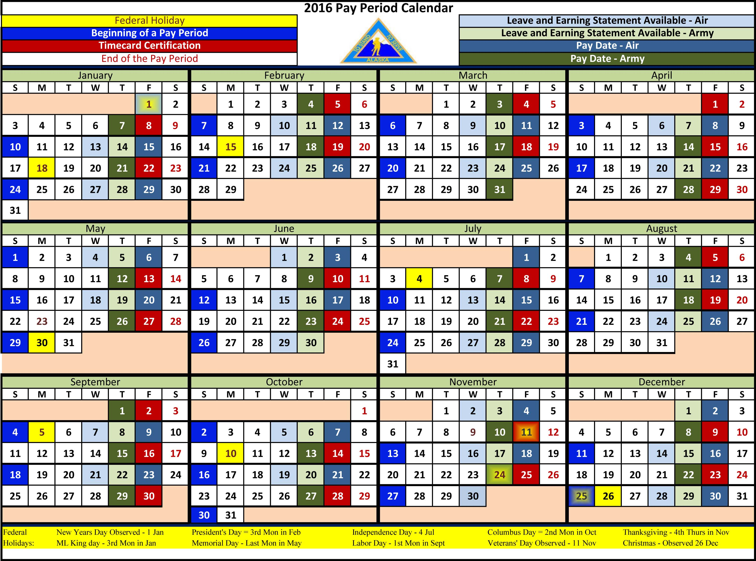 Federal Government Payday Calendar | Calendar Template 2019