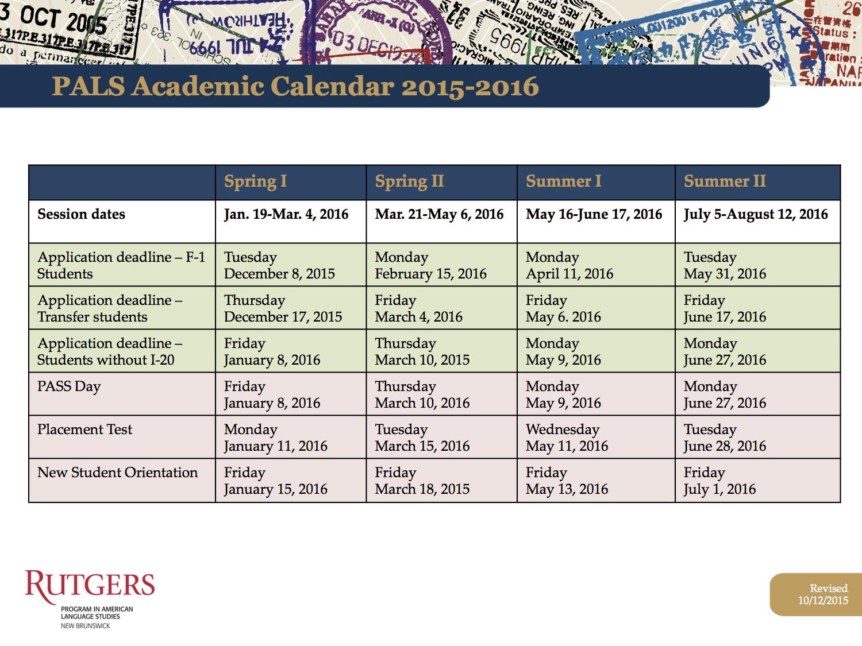 ... University Academic Calendar 2016 2017 | Calendar Template 2017