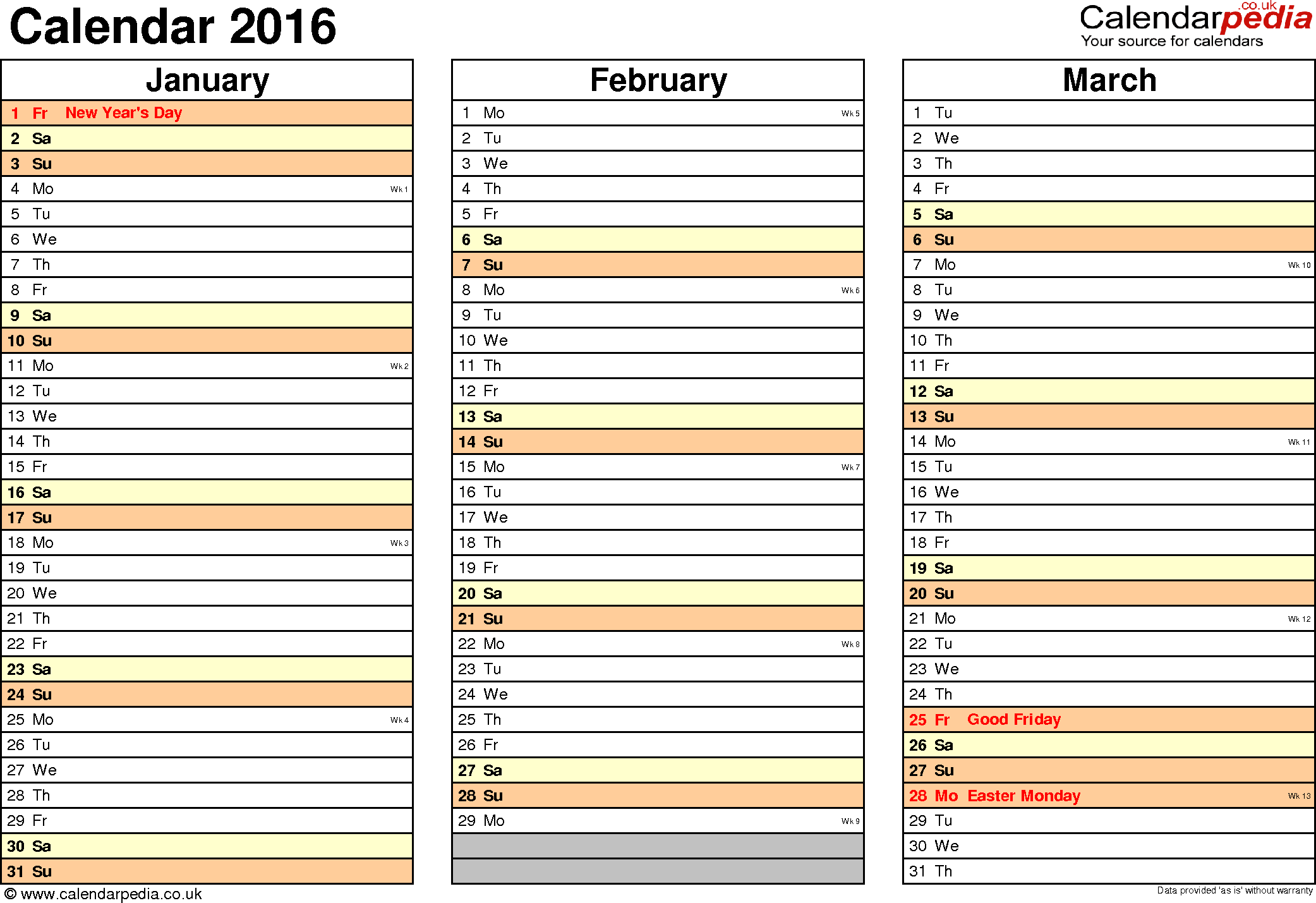 2017 2018 2019 calendar 4 three year printable word calendars