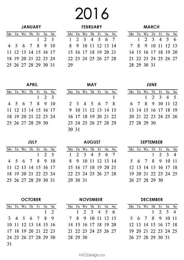 Pocket Calendar Design : Free printable pocket monthly calendar