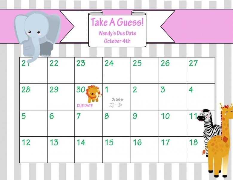 photograph regarding Free Printable Due Date Calendar identify July 2016 Calendar Printable Boy or girl Owing Guessing Calendar