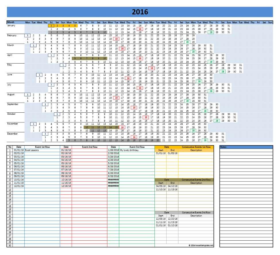 microsoft templates calendar 2017