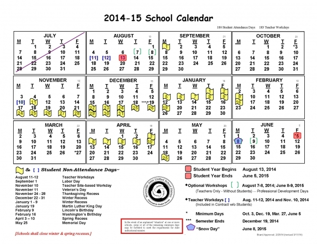 Manteca Unified School District Calendar | Printable Calendar 2017