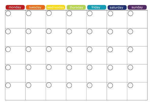 Monthly Calendar Template | monthly calendar printable