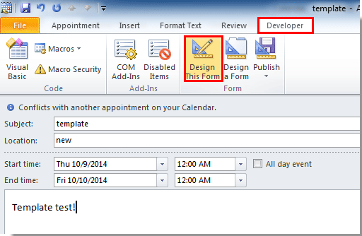 Outlook calendar invite invitation template calendar for How to create a template in outlook 2010